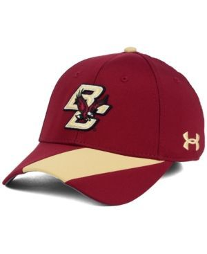 Under Armour Boston College Eagles Renegade Accent Stretch Cap - Red M/L