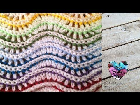 Point zig zag en relief très facile crochet/ Punto zig zag a crochet en relieve muy facil - YouTube