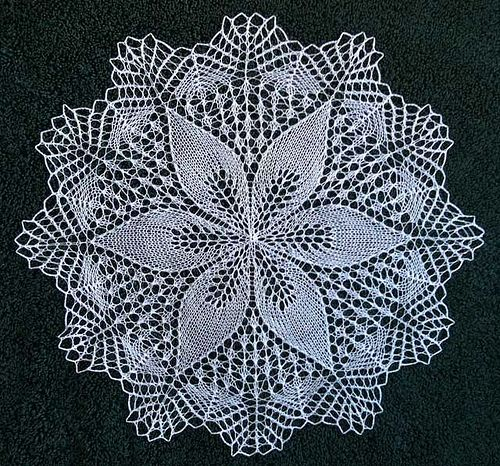 Julie by shanley1123 free knit doily pattern on ravelry