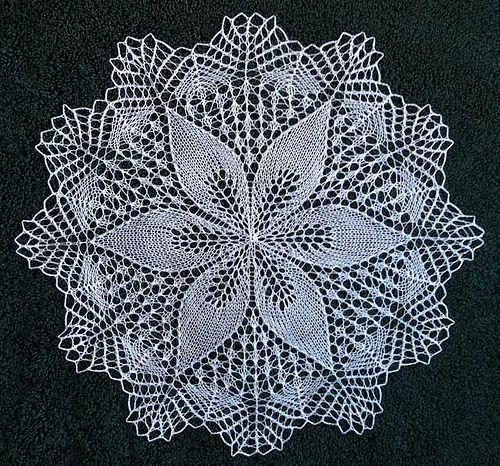 Julie by shanley1123 free knit doily pattern on ravelry