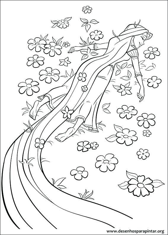 Desenhos Para Colorir E Imprimir Das Princesas Enrolados Desenhos