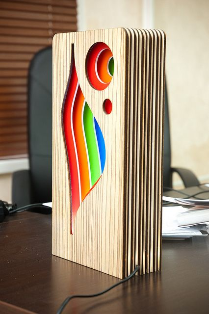 LED lamp made ​​of plywood | Flickr - Photo Sharing!