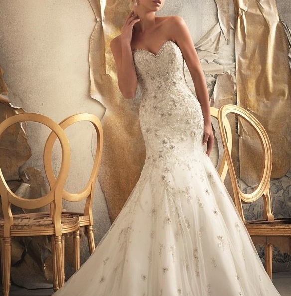 Beautiful mermaid fitted wedding dress passion for for Beautiful fitted wedding dresses