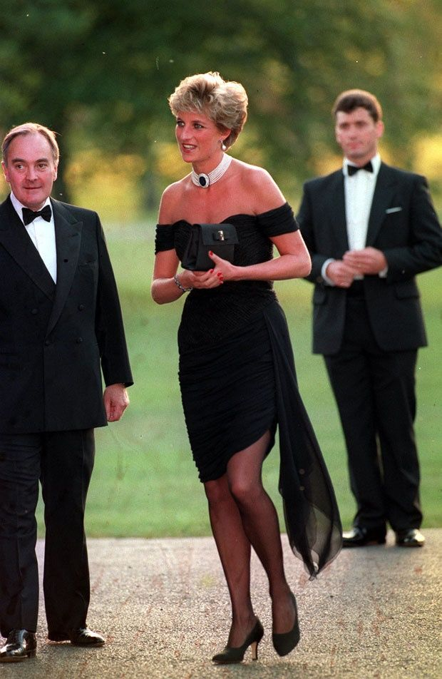 """Princess Diana THE REVENGE DRESS One of Diana's most talked-about outfits had to be the figure-hugging, low-cut little black dress the princess wore to a Serpentine Gallery party in 1994. The press dubbed it her """"revenge dress,"""" because it was the same night Charles admitted on television that he was having an affair with Camilla Parker Bowles. Greek fashion designer Christina Stambolian reportedly said Diana initially thought the dress """"too daring"""" and only opted for it at the last minute."""