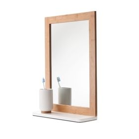 Bamboo Mirror with Shelf