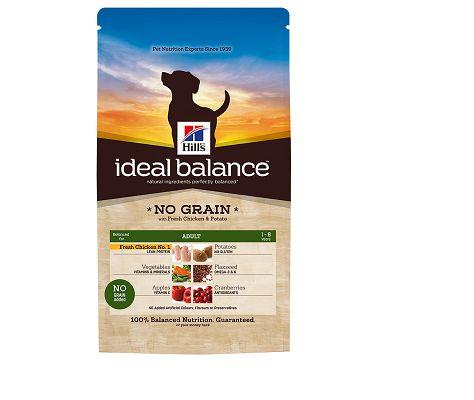 Win a 12kg bag of Hill's Ideal Balance Grain Free dog food
