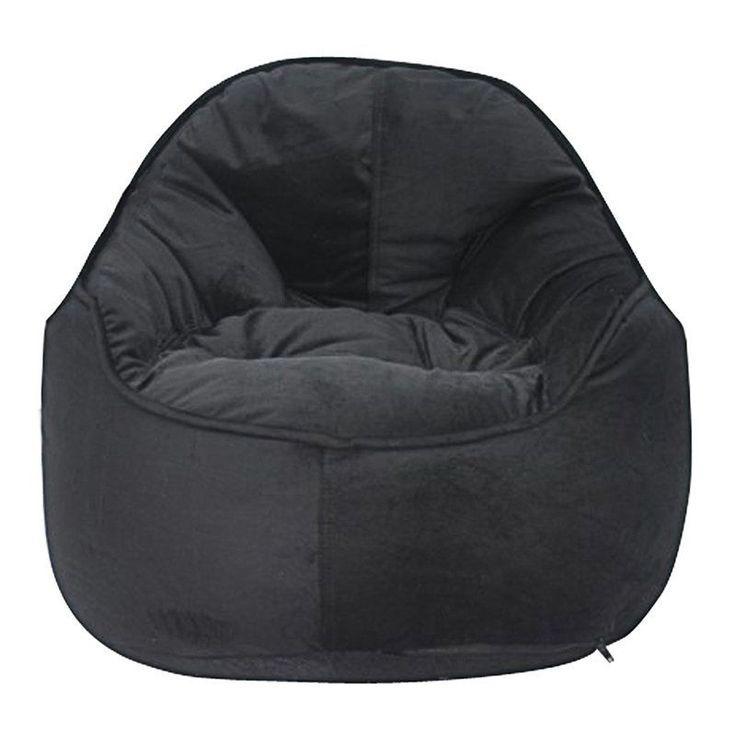 Modern Bean Bag Mini Me Pod Small Bean Bag Chair Black - MBB918B - BLACK