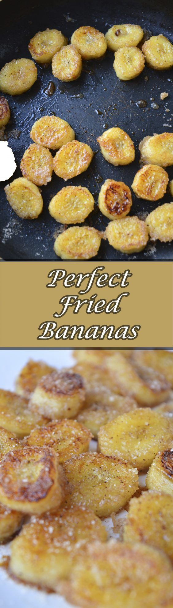 Perfect fried bananas