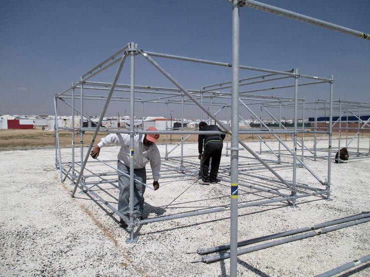 Campo de Refugiados de Za'atari, Jordânia. Cortesia de Pilosio Building Peace