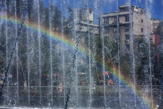 Rainbow fountain – Santiago, Chile