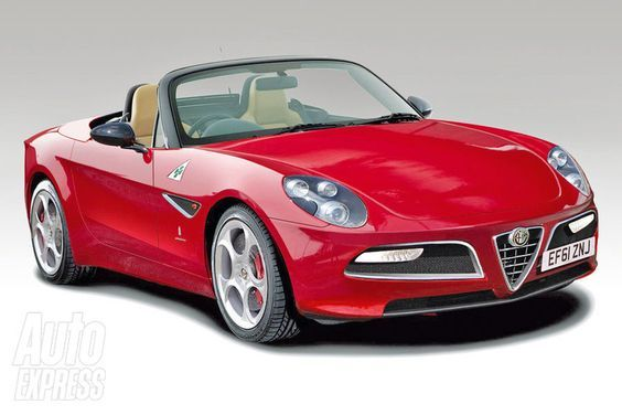 New Alfa Romeo Spider front three-quarters