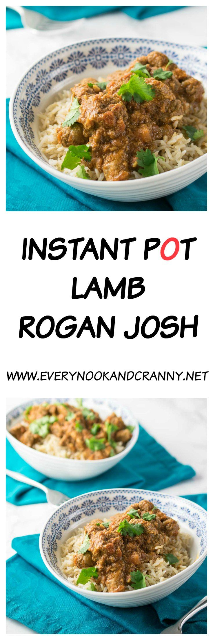 Instant Pot Lamb Rogan Josh - a rich tomato based lamb curry made all the better for pressure cooking it in the Instant Pot