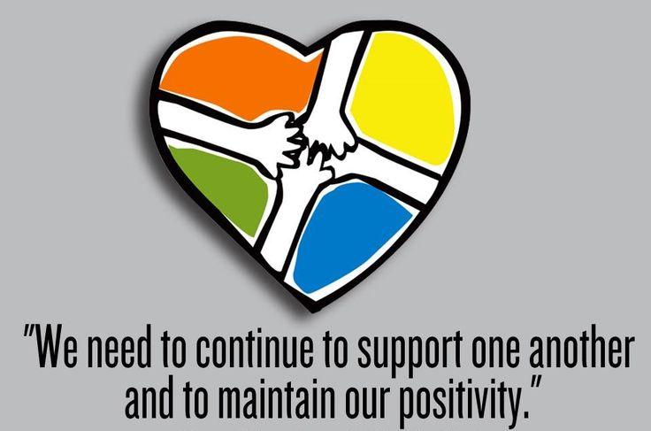Maintain your positivity.