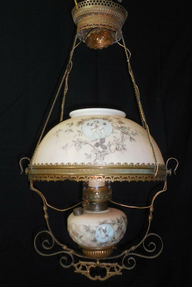 15 best lighting victorian images on pinterest bright walls light antique converted oil chandelier brass frame glass w cherubs ebay arubaitofo Gallery