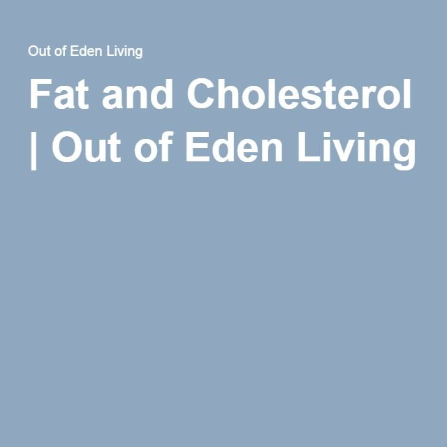 Fat and Cholesterol   Out of Eden Living