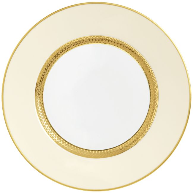 #Raynaud - Limoges #porcelain - Odyssée collection with inlayed gold - dinner #plate