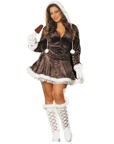 Eskimo Cutie Adult Womens Plus Size Costume