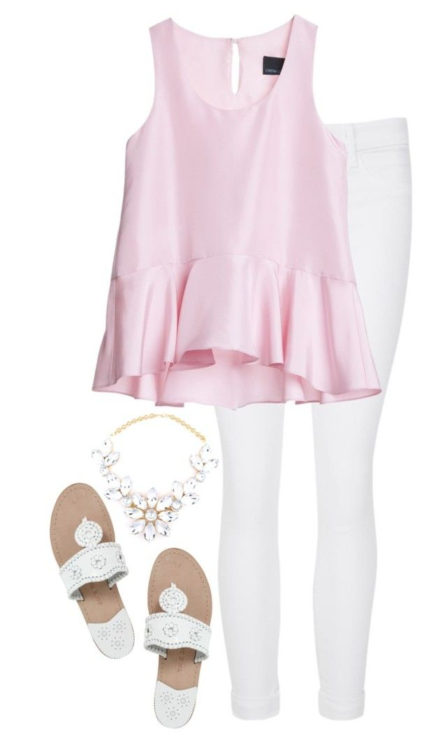 """""""//My Preppy Life Tag//"""" by preppybelle ❤ liked on Polyvore featuring J Brand, Cynthia Rowley, Jack Rogers and mypreppylifetag"""