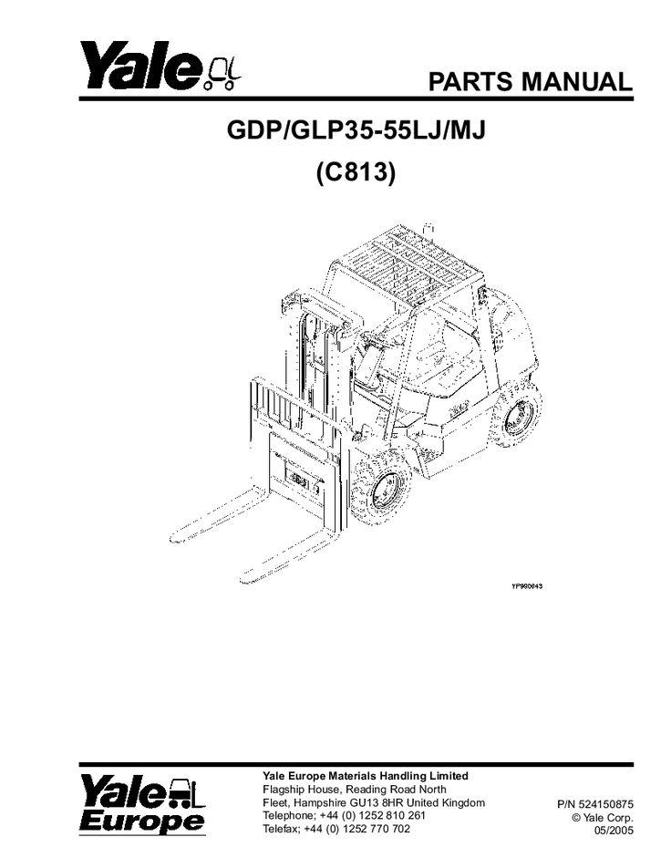 Yale C813E Lift Parts Manual PDF Download