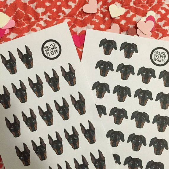 Doberman Planner Stickers / A5 or personal by RosePaperParty