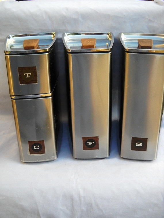 Canisters, Mid Century Modern Kitchen And Kitchen Canister