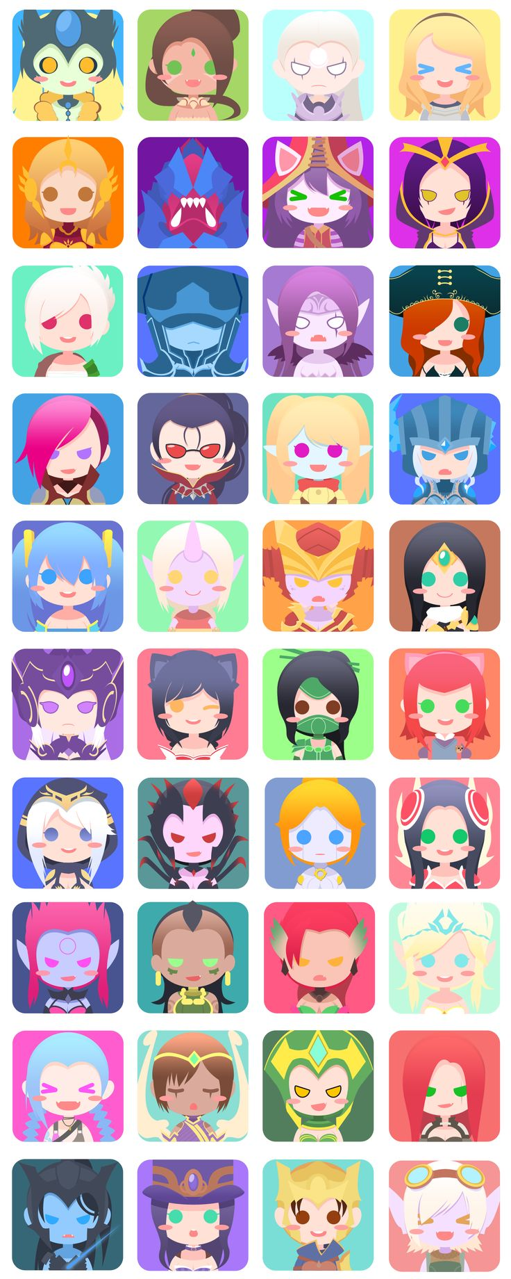 40 Female League Champ icons! - Imgur