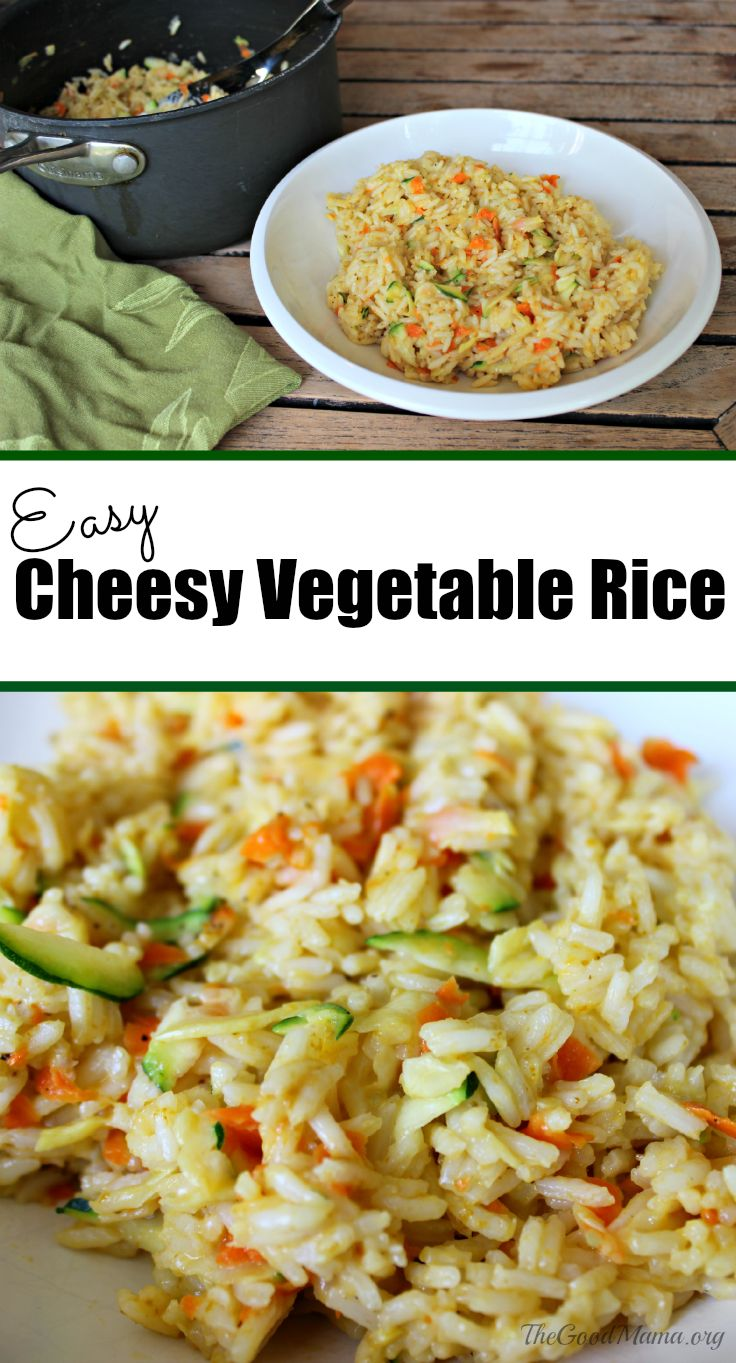 Easy Cheesy Vegetable Rice Recipe  The Ultimate Pinterest Party, Week 66