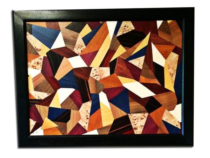 9 best images about tableaux marqueterie contemporain on - Objet decoratif original ...