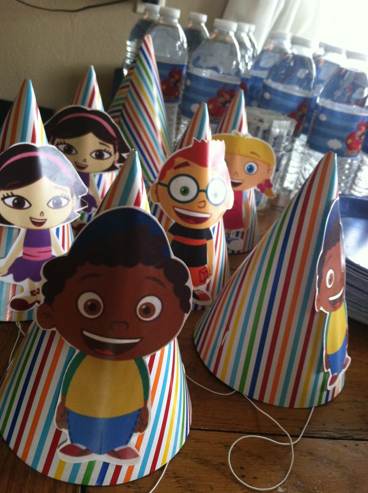 Jacob insisted on having these Little einsteins party hats!