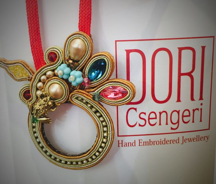 """""""I received my Baroque pendant just in time for the holidays!! Thank you team Dori!"""" #DoriCsengeri #pendant #baroque #gold #pearl&crystal"""