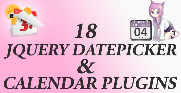 I am going to reveal you the 18 Most Popular jQuery Datepicker and Calendar Plugins, that you can use on your site either in a contact form (if it is necessary) or embed one to tell people about the upcoming events.