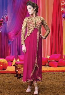 New Fashion Gown Style Shalwar Kameez for Women http://clothingpk.blogspot.com/2015/08/new-fashion-gown-style-shalwar-kameez.html