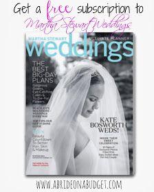 Free Wedding Magazine Subscription
