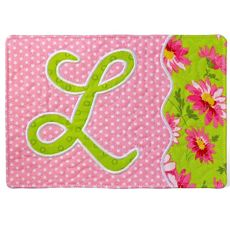 Monogrammed Mug Rugs Hoop Liques Sewing Pattern 26 Beautiful Lique Letters For Hoops Plus Instructions And Templates