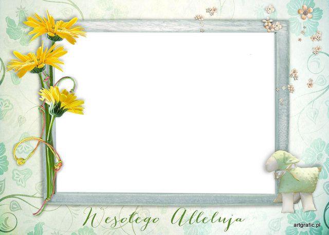 Foto kartka -Ramka Cyfrowa -Wielkanoc 19 [jednowarstwowa]