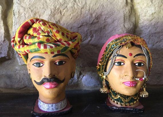 Decorative Hand-made Rajasthani Traditional Folk Man by Sajavat