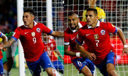 Héroes y villanos: Alexis y Vargas se lucen en histórica victoria de Chile ante Brasil. Octubre 08, 2015.