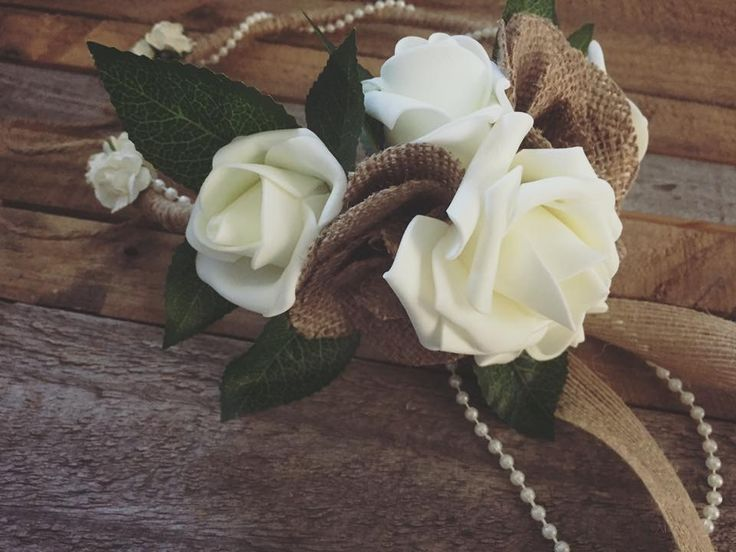 Rustic flower girl halo