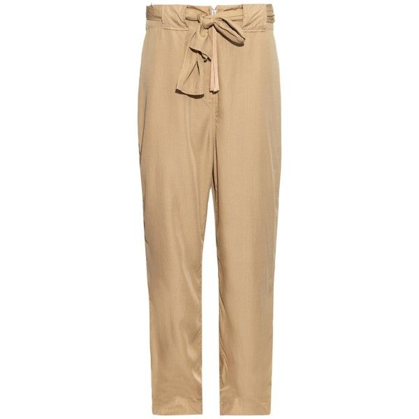 Acne Studios Este lightweight slouchy trousers ($168) ❤ liked on Polyvore featuring pants, acne, trousers, beige, acne studios, saggy pants, beige pants, low pants and light weight pants