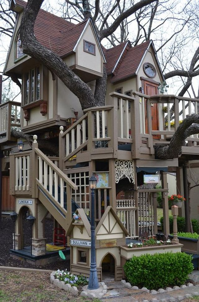 a previouspinner said childrens tree house in dallas tx has so many cool things inside and out for the kids to entertain themselves
