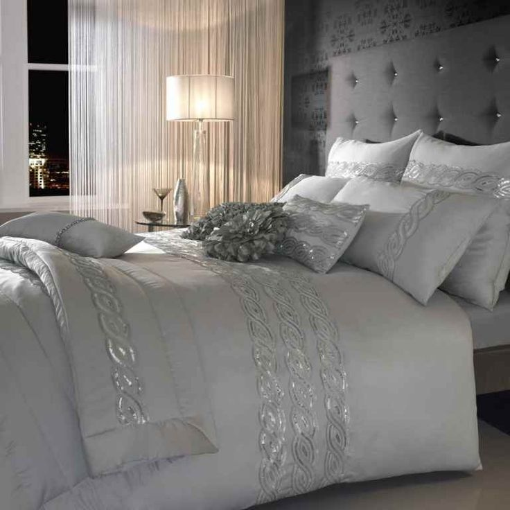 Superb This Silver U0027 Sequin Waveu0027 Bed Linen From Kylie Brings A Sparkling  Femininity To Your