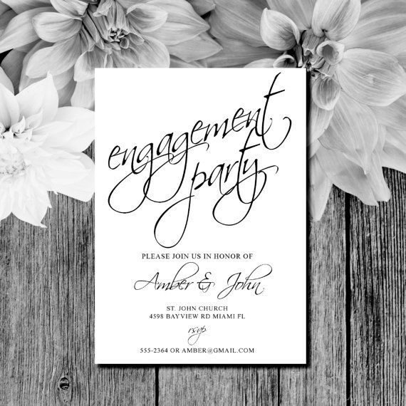 74 best Engagement Party Invites images on Pinterest Engagement - engagement party invites templates