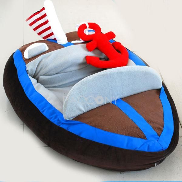 US $ 67.99 only with one product of Dog Beds on sale, buy Cool Deluxe Yacht Shaped Pet Houses right now on Paccony.com.
