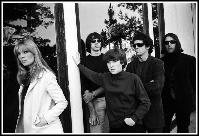 Nico, Sterling Morrison, Maureen Tucker, Lou Reed and John Cale of the band The Velvet Underground at Phillip Law's home during the Exploding Plastic Inevitable tour, photo by Steve Schapiro, Los Angeles, 1966 | Flickr - Photo Sharing!