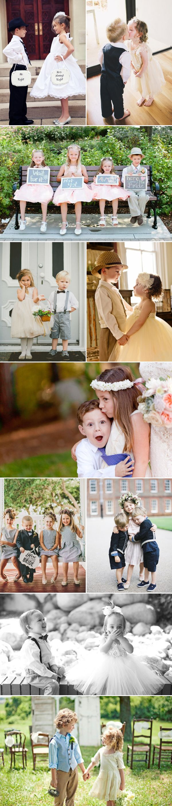 "The most well-known ""wedding jobs"" for children are definitely the flower girl and ring bearer.  Traditional etiquette says that the flower girl and ring bearer should be between 3-7 years old.   Younger children may have trouble making it to the end of the aisle without some adult intervention. How you dress up these little angels …"