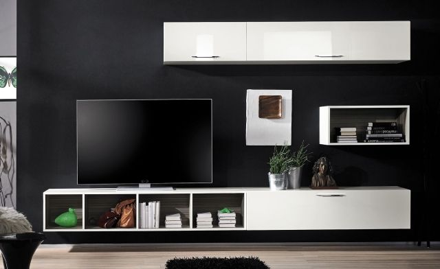 meuble tv suspendu 25 id es pour un int rieur l gant meuble tv suspendu tv suspendue et. Black Bedroom Furniture Sets. Home Design Ideas