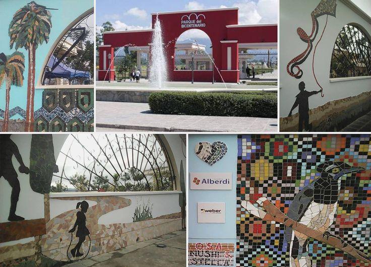 Producción de murales del parque del bicentenario en salta coordinados por NUSHI MUNTAABSKI Y STELLA BLANCHART Compartimos algunas imágenes y los invitamos a visitar el lugar!