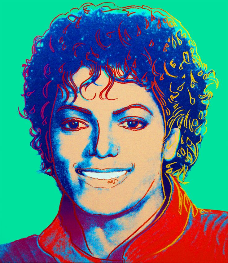 Michael Jackson (Green), 1984 - Andy Warhol