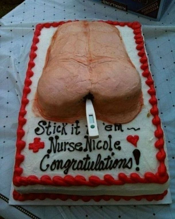 This is the best nursing school graduation cake I've ever seen. @Linda