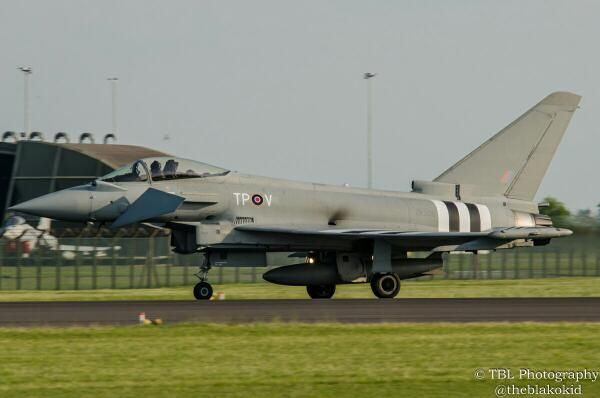 @blakokid on Twitter sent us his photo of the D-Day Striped Typhoon snapped recently in the UK.